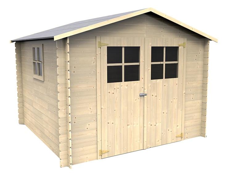Caseta de madera de pino de 2 83 x 2 72 m mirama ref for Caseta jardin leroy merlin