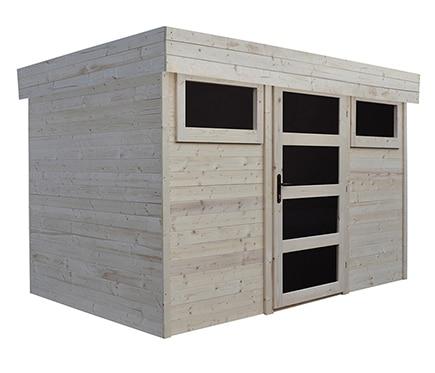 Caseta de madera de abeto de 3 16 x 3 02 m neuilly ref - Casetas madera jardin leroy merlin lille ...