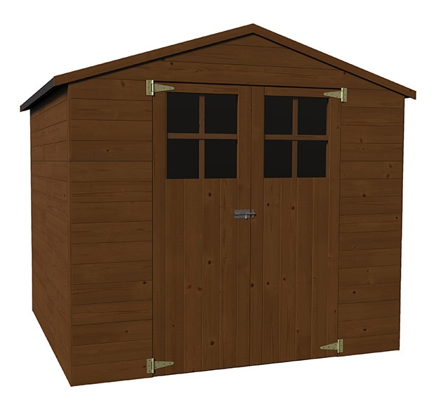 Caseta de madera de pino de 2 29 x 2 02 m alaska ref - Caseta madera leroy ...
