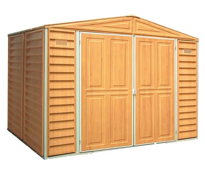 Caseta de resina de 2 4 x 1 62 m dmx wood 8x6 ref for Caseta exterior resina