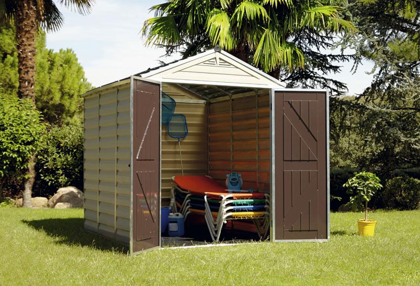 Caseta de resina de 1 88 x 2 15 m denver ref 17875543 for Caseta jardin leroy merlin