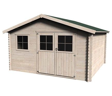 Caseta de madera de pino de 4 x 4 m avaroa ref 17979010 - Caseta jardin leroy ...