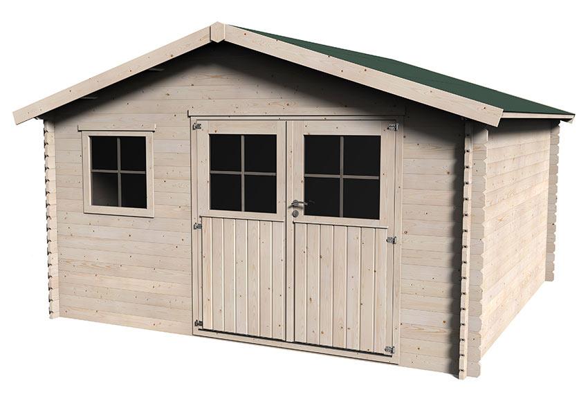 Caseta de madera de pino de 4 x 4 m avaroa ref 17979010 - Caseta madera leroy ...
