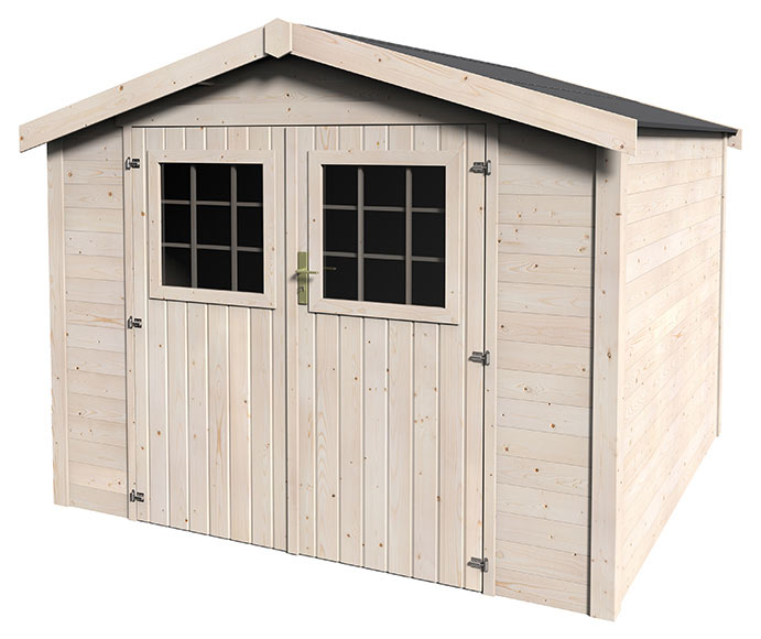 Caseta de madera de abeto de 2 70 x 2 75 m turenne - Caseta madera leroy ...