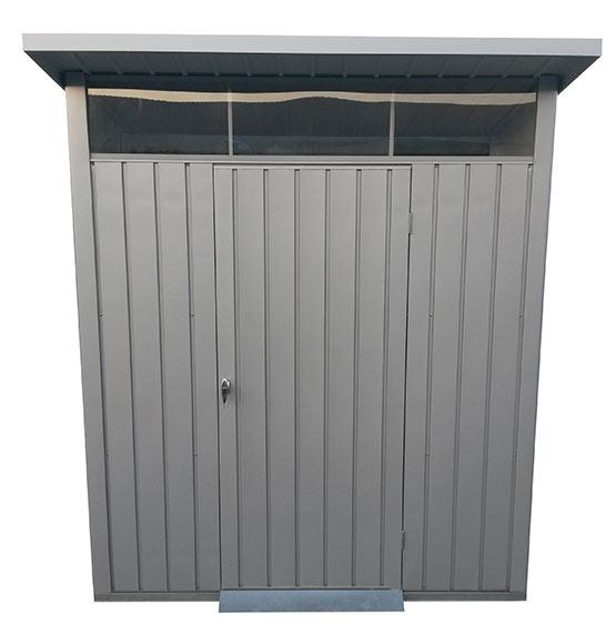 Caseta de acero de 2 44 x 1 88 m palladium 8x6 ref for Caseta acero galvanizado