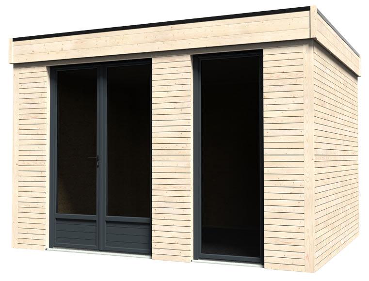 Caseta de madera 3 65 x 2 49 x 2 99 m eco lodge 9 m2 ref for Caseta pvc exterior