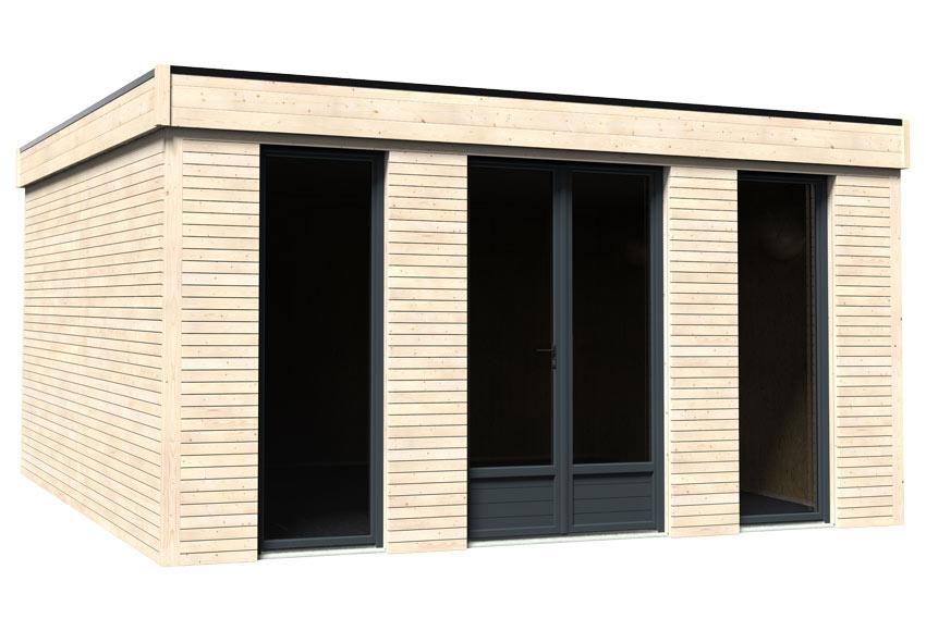 Caseta de madera 4 97 x 2 49 x 4 97 m eco lodge 21 m2 ref for Casetas de madera prefabricadas leroy merlin
