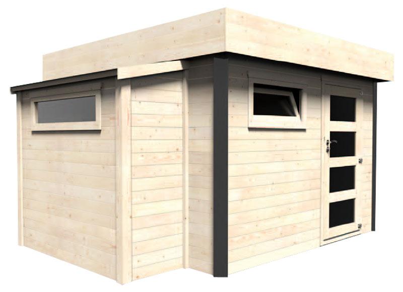 Caseta de madera 3 82 x 2 30 x 3 26 m atelier 28 mm ref for Caseta madera exterior
