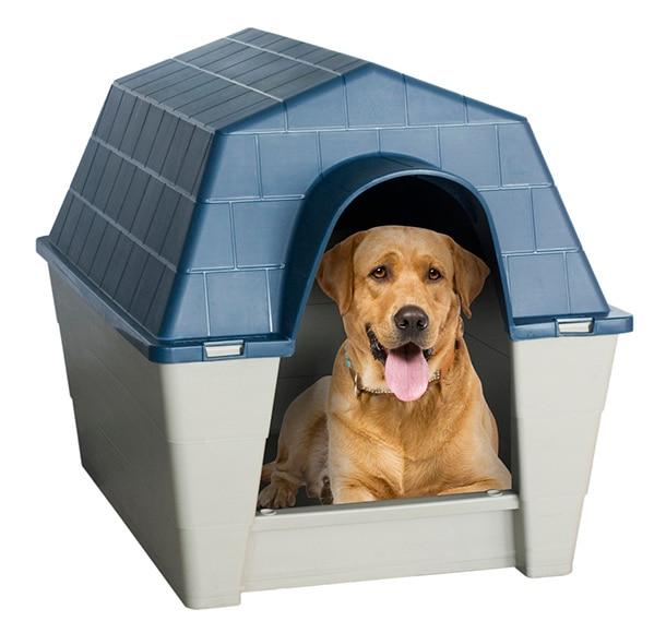 Caseta de resina dog ref 14130676 leroy merlin for Casetas para perros bricomart