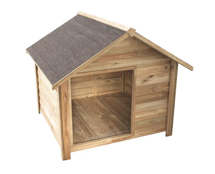 Caseta de madera de pino willow 80 ref 16279886 leroy - Hacer caseta de madera ...