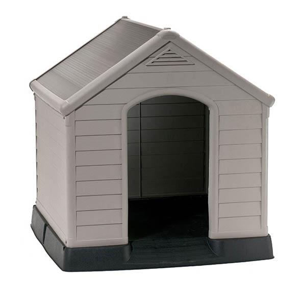Caseta de resina caseta perro ref 17446135 leroy merlin for Caseta exterior resina