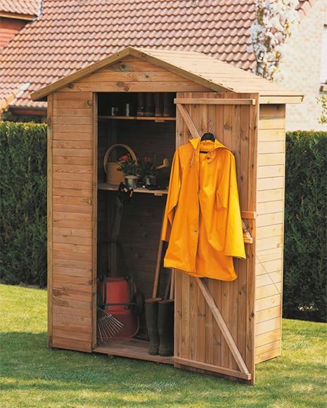 Armario de madera de pino leo ref 13222706 leroy merlin for Armario jardin leroy merlin