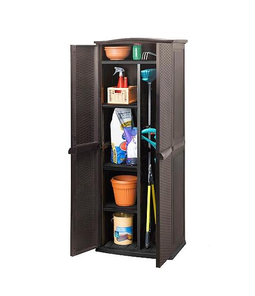 Armario de resina multi shed rattan ref 14695030 leroy - Leroy merlin armarios de resina ...