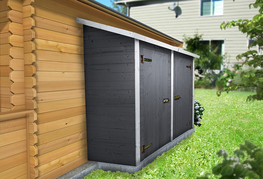 Armario de madera de abeto tucson ref 16262820 leroy merlin for Casetas de resina para exterior