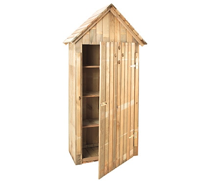 Armario alto de madera de pino wissant ref 17542385 - Armario exterior madera ...