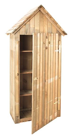 Armario alto de madera de pino wissant ref 17542385 for Armario madera jardin