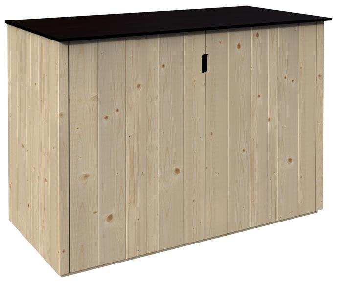 Armario de madera basse 120x60x90cm ref 19468694 leroy for Armarios de jardin leroy merlin