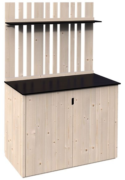 Armario de madera trei 120x60x180cm ref 19468715 leroy for Armario jardin madera