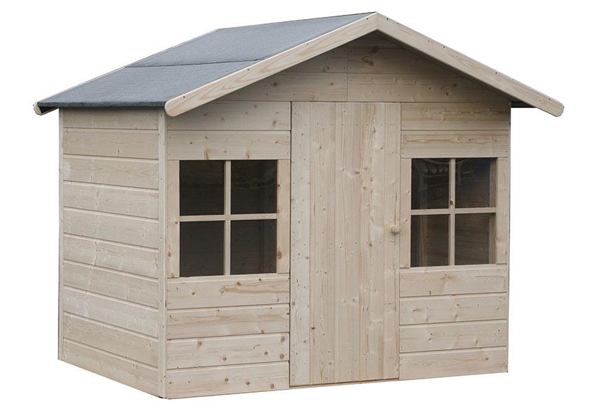 Caseta infantil de 2 42 m2 clara ref 16699130 leroy merlin for Casetas de madera para jardin aki