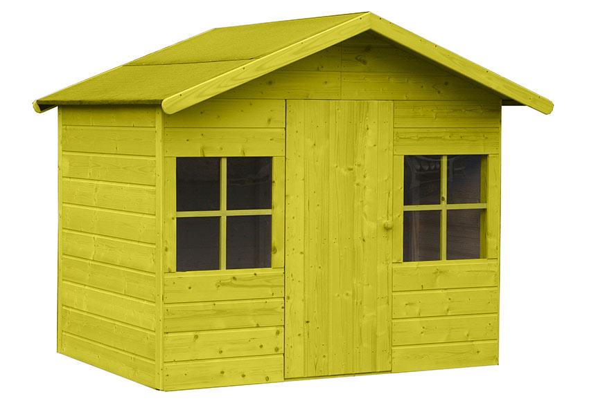 Caseta infantil de 2 42 m2 clara ref 16699130 leroy merlin for Casetas de madera leroy merlin