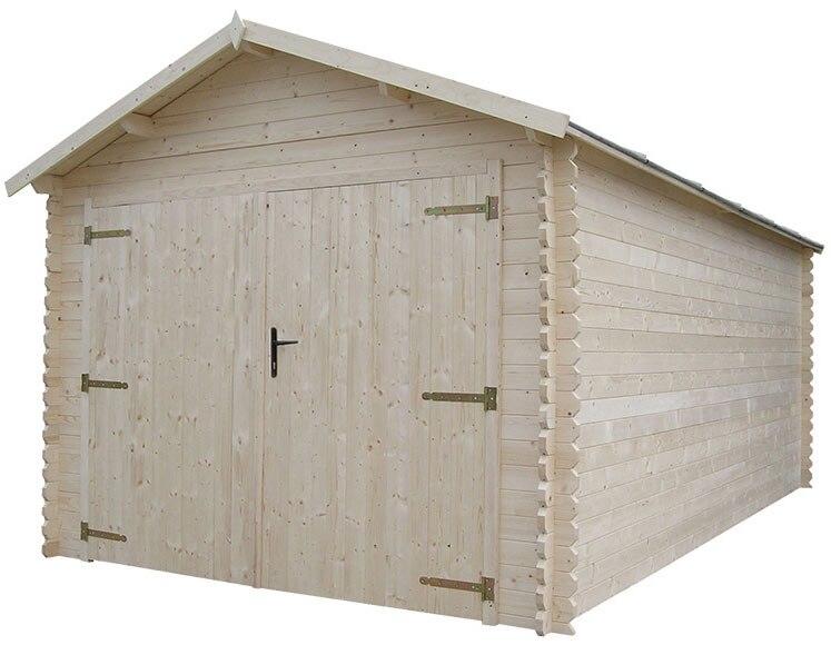 Garaje de madera de abeto de 17 45 m2 montagny ref - Garaje de madera ...