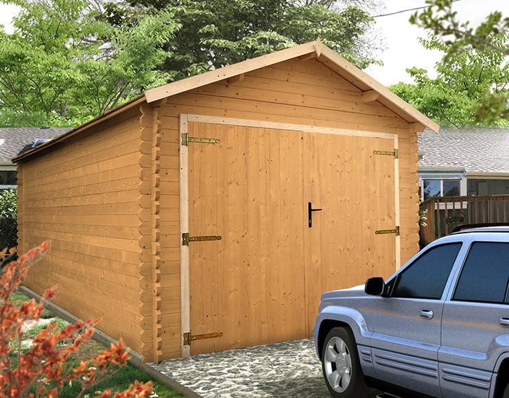 Garaje de madera de abeto de 17 45 m2 montagny ref - Casetas prefabricadas leroy merlin ...