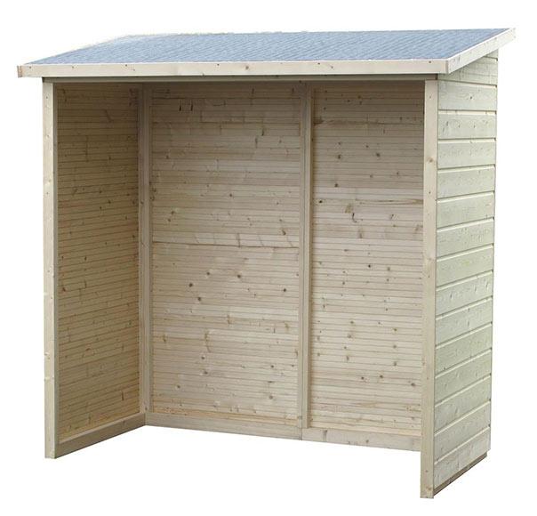 Leñero de madera de pino de 1,79 m2 AVEAL Ref. 18062716 - Leroy Merlin