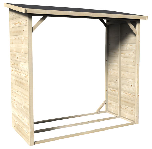 Leñero de madera 1,82 x 1,78 x 0,94 m LEÑERO 182x94CM Ref. 19468722 ...
