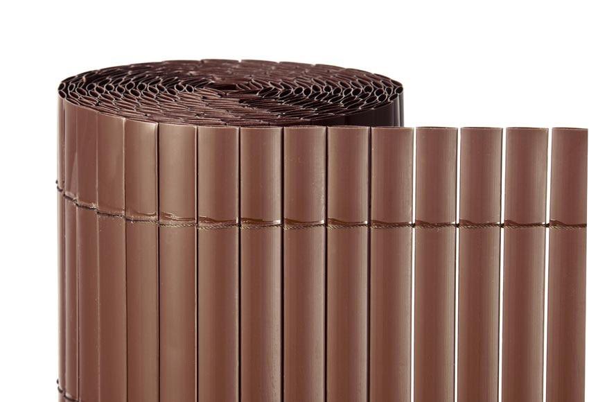 Ca izo artificial chocolate medidas 2 x 5metros naterial for Canizo para jardin