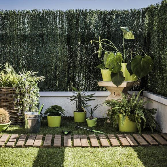 Seto artificial 36 v verde leroy merlin - Setos de jardin ...