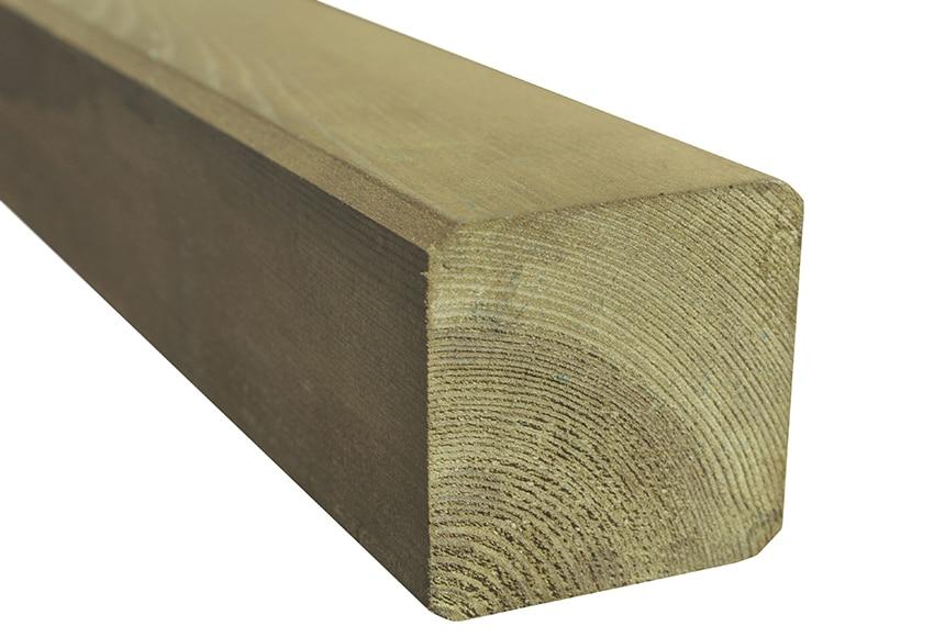 Poste de madera cuadrado 180x7 cm ref 13548675 leroy merlin - Postes de madera para pergolas ...