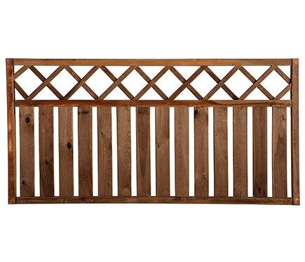 Valla de madera rodeo recta 90 cm ref 13225415 leroy merlin for Valla madera jardin