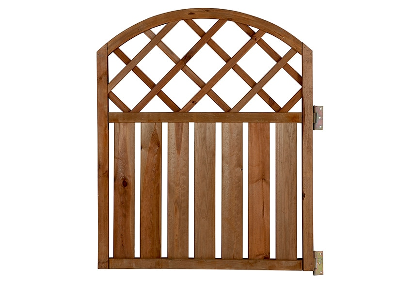 Puerta de madera rodeo arco 90 cm ref 13247290 leroy merlin - Puerta de madera para jardin ...