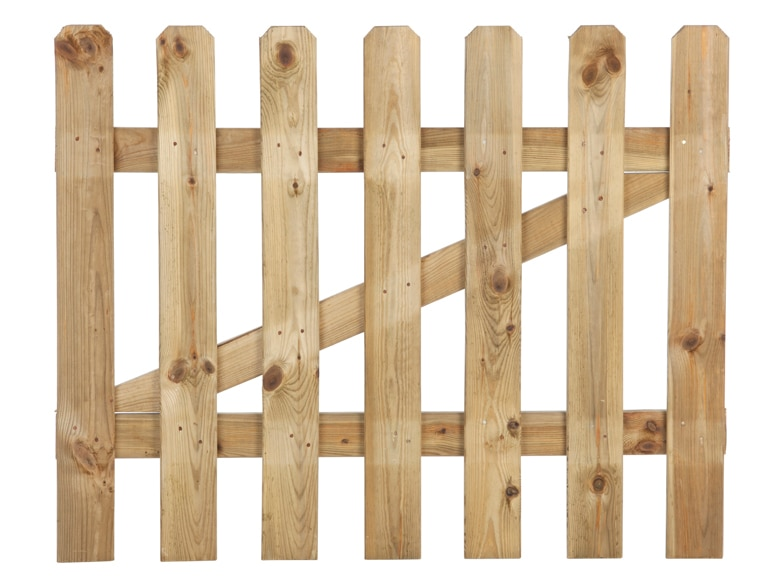 Puerta de madera hurricane 80 cm ref 14658532 leroy merlin for Puertas madera para jardin