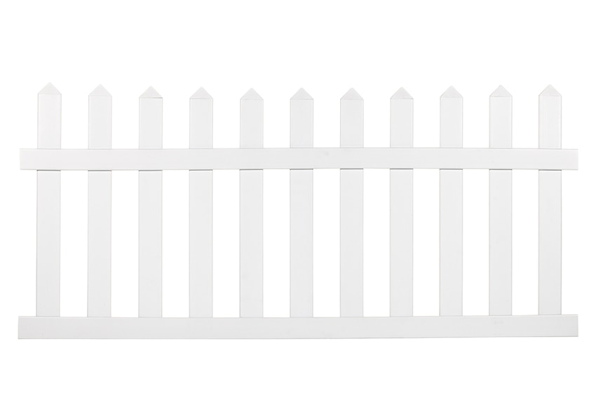 Valla de pvc picket fence 75 cm ref 15629992 leroy merlin for Palets de plastico leroy merlin