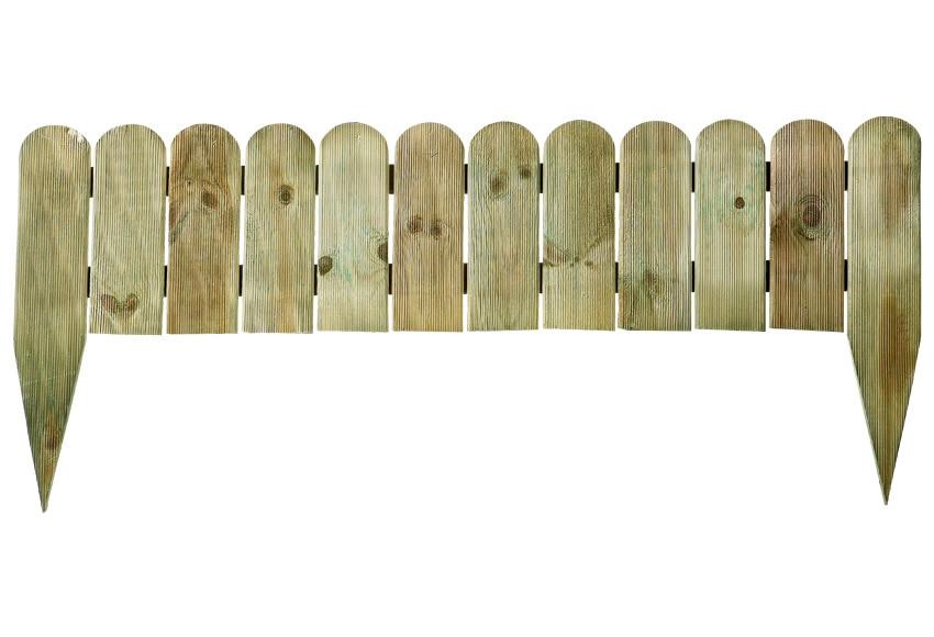 Bordura de madera 100 x 25 45 cm ref 13777470 leroy merlin - Borduras de jardin baratas ...