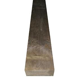 traviesa de madera tintada 122 x 20 x 10