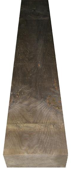 Traviesa de madera tintada 122 x 20 x 10 ref 14626871 for Vallado de madera jardin leroy merlin