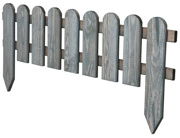 Bordura de madera gris 110 x 28 45 cm ref 16708034 for Bordura leroy merlin