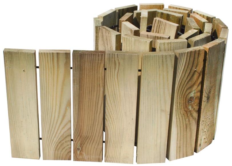 Bordura de madera medidas 180 x 20 cm ref 16723182 for Bordura leroy merlin