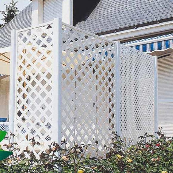 Celos a blanco clasic 100 x 200 cm ref 10611125 leroy for Celosias de jardin