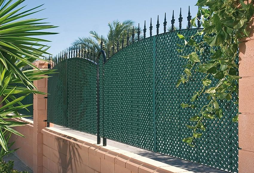 Celos a fija verde 100 x 200 cm ref 12754693 leroy merlin for Celosias de jardin