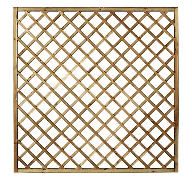Celos a de madera diagonal natural 179 x 179 cm ref - Celosia madera leroy merlin ...