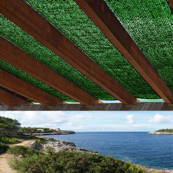 malla de sombreo naterial 4 x 8 m verde ref 14048475