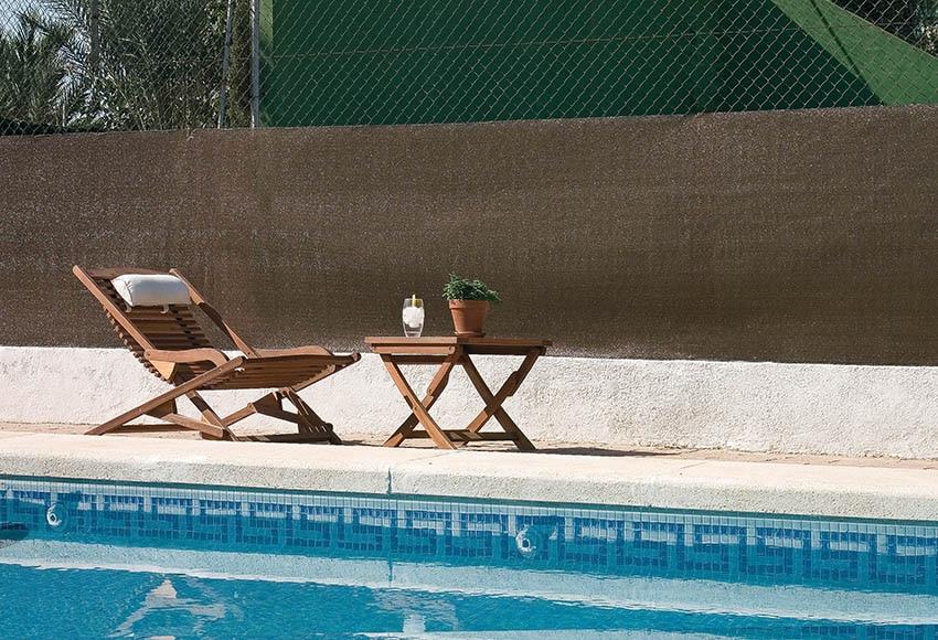 Malla de 1 5 x 50 m malla de ocultaci n brezo ref - Ocultacion vallas jardin ...