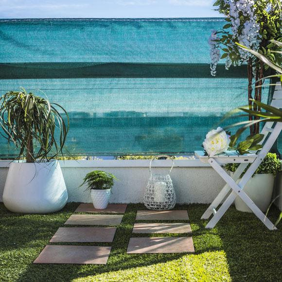 Malla de 1 x 5 m naterial malla de ocultaci n verde ref - Mallas para jardin ...