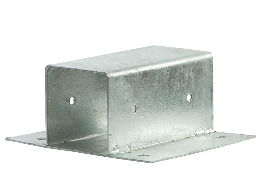 Soporte de poste pared 7x7 cm ref 14091644 leroy merlin - Soportes altavoces pared ...