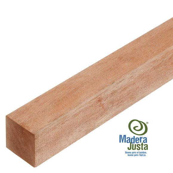 Poste de madera cuadrado 6x120x6 cm ref 16108946 leroy - Listones madera leroy merlin ...