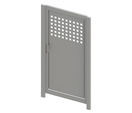 puerta peatonal m16 100 x 200 cm blanco ref 17711960