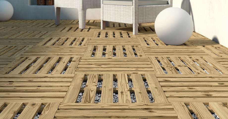Azulejos Para Baño Bricor:Baldosas y lamas de suelos de madera que darán un aspecto decorativo